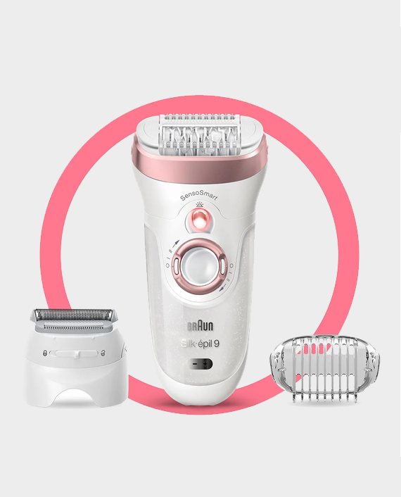 Braun Silk-epil 9-720 Wet & Dry Epilator with 4 extras Include Shaver Head in Qatra