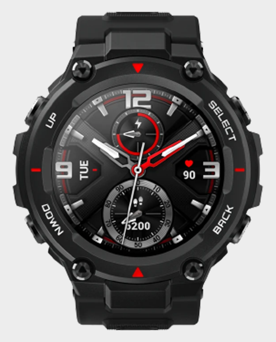Amazfit T-Rex Smartwatch Rock Black in Qatar