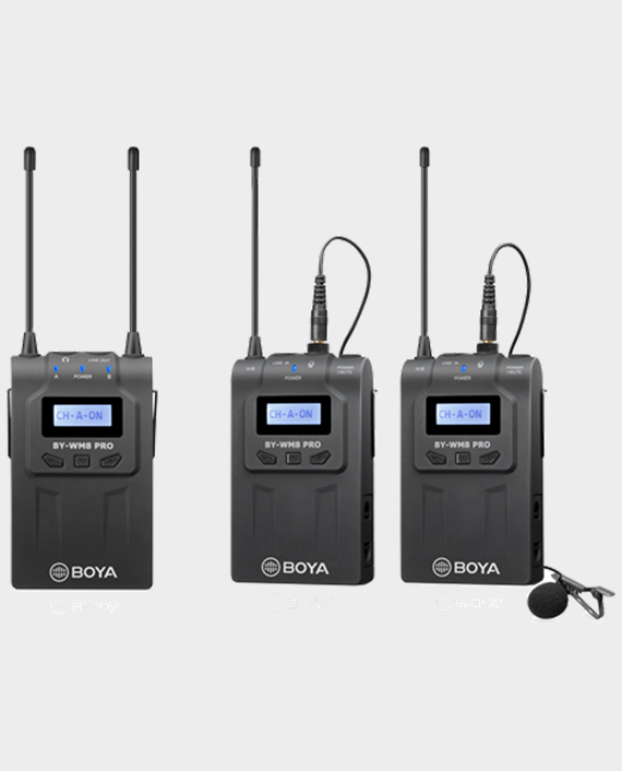 Boya BY-WM8 Pro-K2 UHF Dual-Channel Wireless Microphone System in Qatar