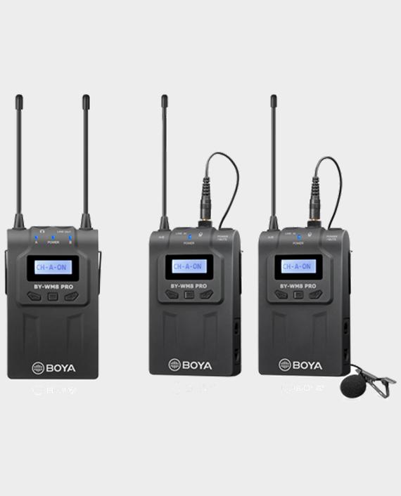 Boya BY-WM8 Pro-K2 UHF Dual-Channel Wireless Microphone System in Qatar