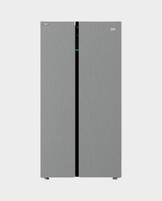 Beko GNE640E21PX Side by Side Refrigerator 640 Ltr Silver in Qatar