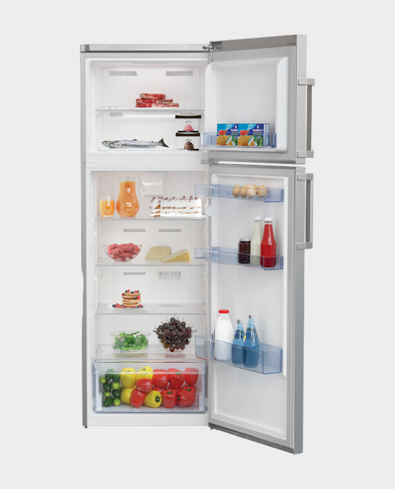 Beko RDNE350K21S Top Mount Refrigerator 390L Silver