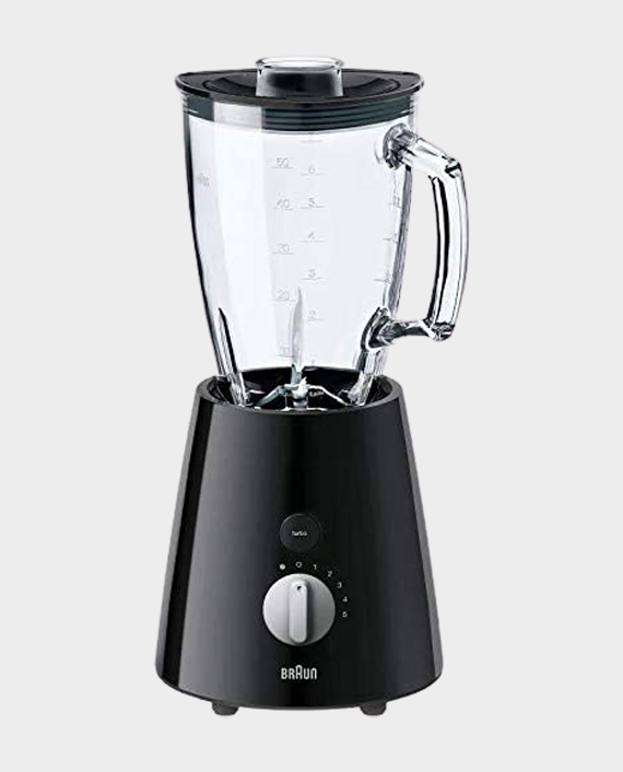 Braun JB3060 Tribute Collection Blender with Glass Jug, 800 Watt 1.75L - Black in Qatar