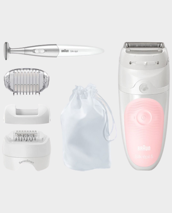 Braun SES5-820 Silk - Epil 5 Epilator with 3 in 1 Trimmer - Pink/White