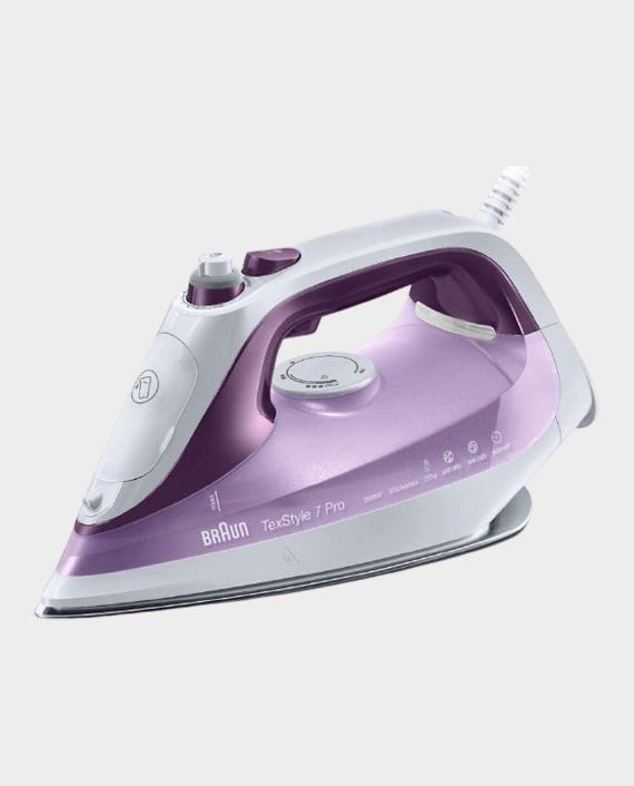 Braun SI7066 Tex Style 7 Pro Steam Iron 2600W - White/Purple in Qatar
