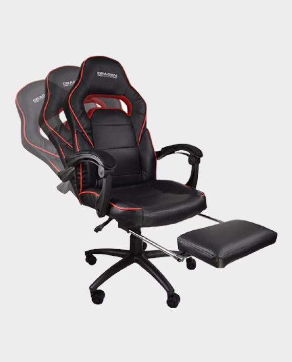 Dragon War GC-006 Ergonomic Extension foot Rest Gaming Chair Black/Red