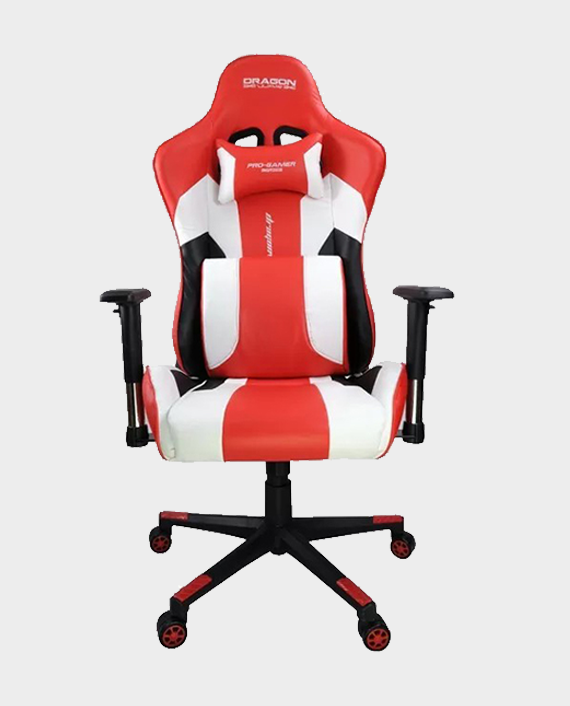 Dragon War GC-007 Gaming Chair with Massage Cushion Red/White in Qatar