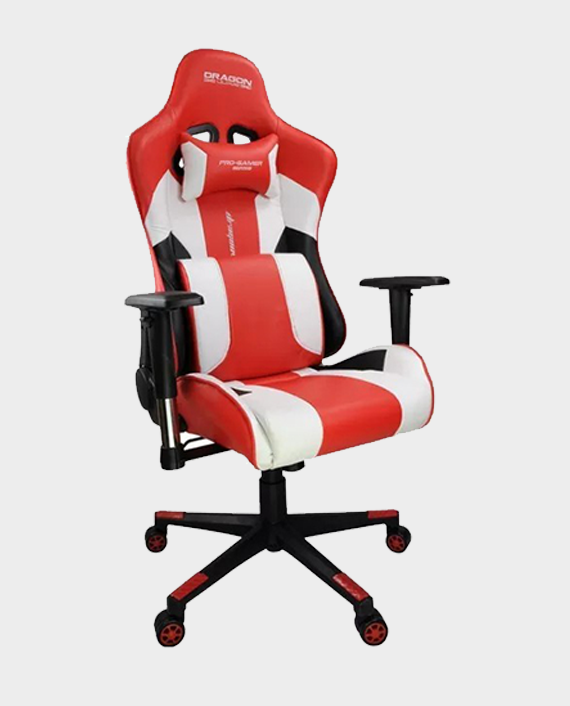 Dragon War GC-007 Gaming Chair with Massage Cushion Red/White