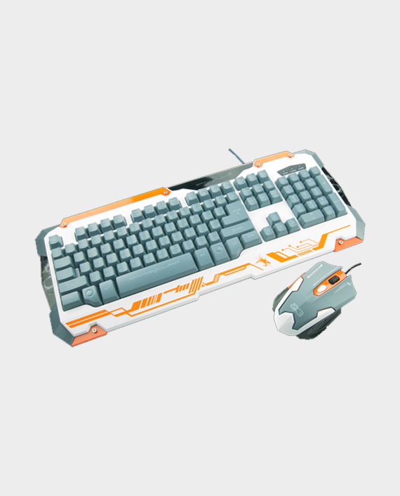 Dragon War GKM-001 Sencaic Gaming Keyboard Mouse Combo Set White in Qatar