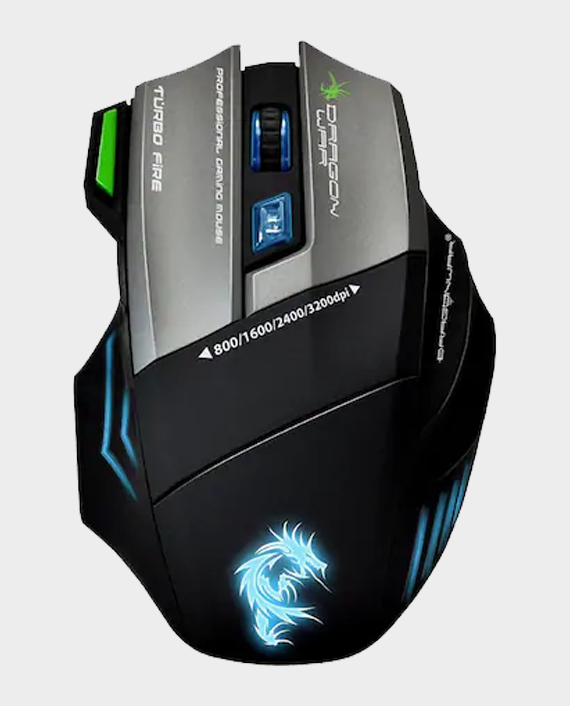 Dragon War Thor G9 Gaming Mouse 3200 DPI LED with Mouse Pad Black in Qatar