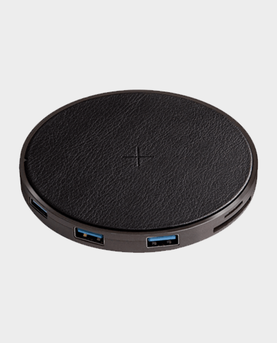 Energea WiHub 7-in-1 Aluminum 3.1 USB-C Hub with Wireless Charging Pad Gunmetal in Qatar