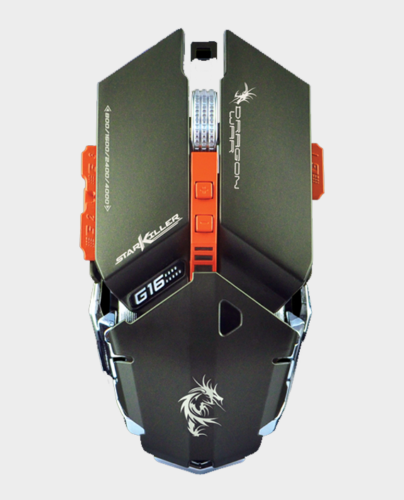 Dragon War Star Killer G16GY Gaming Mouse 4000 DPI Grey in Qatar