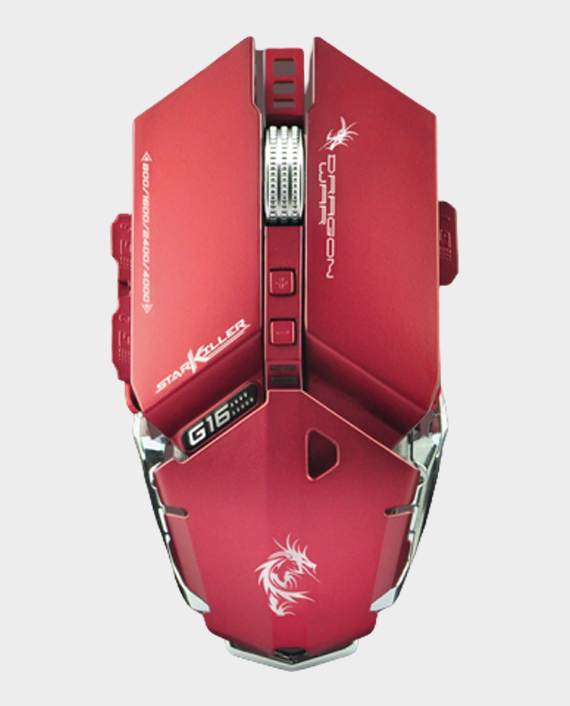 Dragon War Star Killer G16RD Gaming Mouse 4000 DPI Red in Qatar