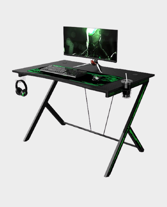 GalaxHero GH-D-002 Gaming Desk - Black/Green in Qatar