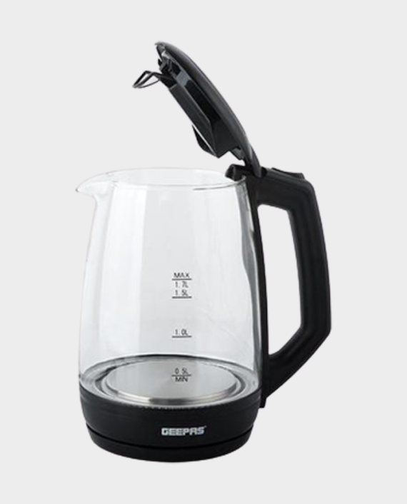 Geepas GK9901 1.7 Litre Electric Glass Kettle with Non Slip Base