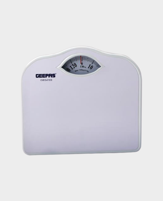 Geepas GBS4169 Mechanical Weighing Scale with Height and Weight Index Display - White in Qatar