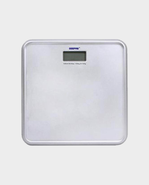 Geepas GBS4180 150 kg Digital Weighing Scale with LCD Display in Qatar