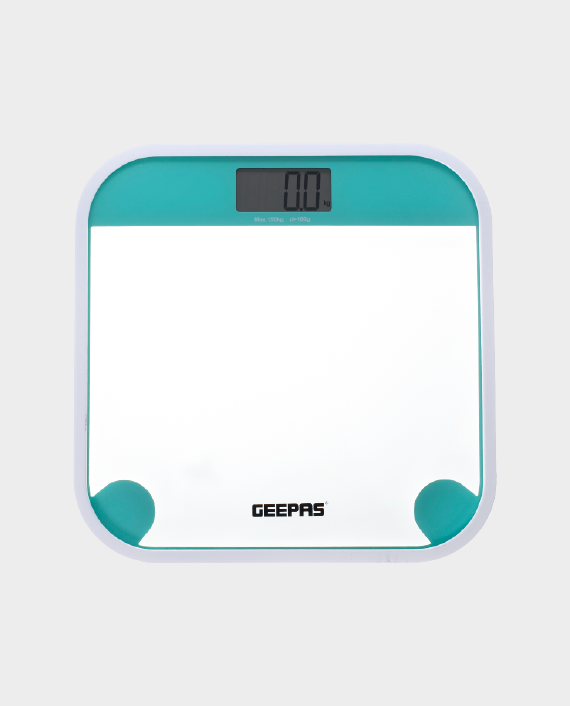 Geepas GBS46504UK Digital Weighing Scale with LED Display - White/Blue in Qatar