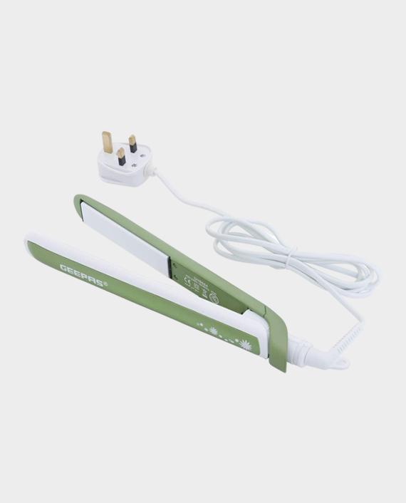 Geepas GH8664 35W Ceramic Hair Straightener White/Green