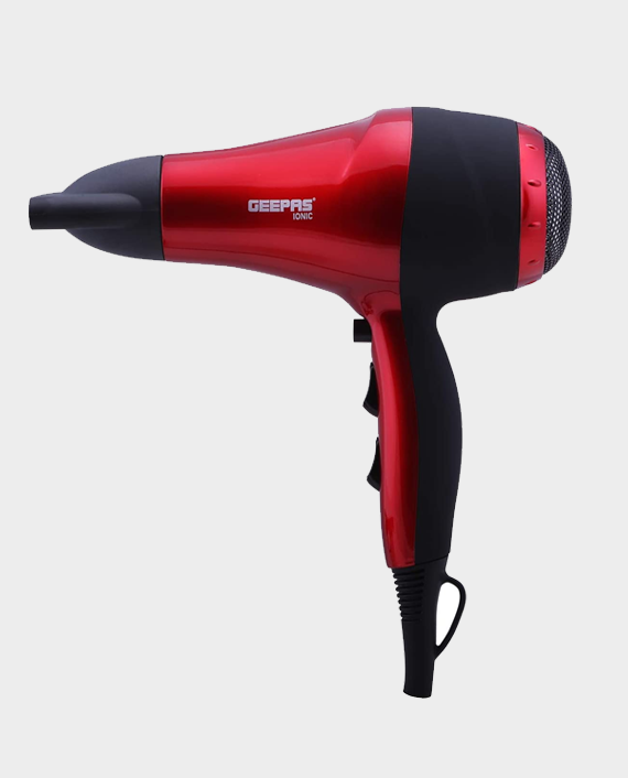 Geepas GHD86018 Hair Dryer Coolshot Ionic Red Price in Qatar