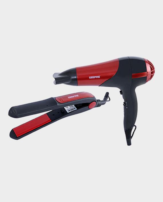 Geepas GHF86036 Hair Dryer With Hair Straightener Red in Qatar