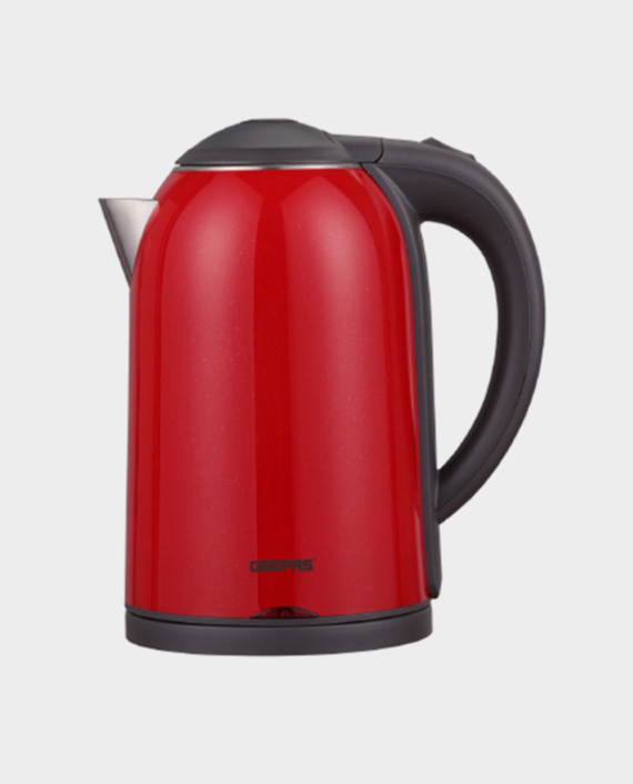 Geepas GK38013 1.7L Double Layer Electric Kettle Red in Qatar