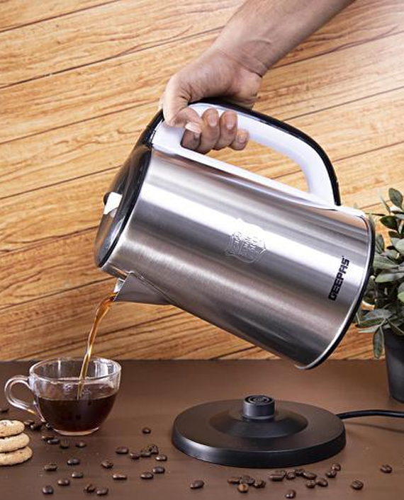 Geepas GK38028 2.5L Electric Kettle Silver