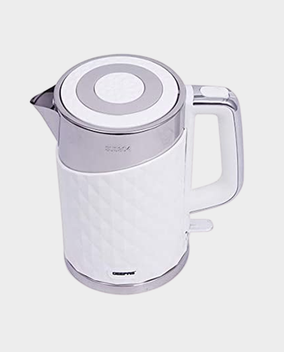 Geepas GK6141 1.7L Stainless Steel Double Layer Kettle in Qatar