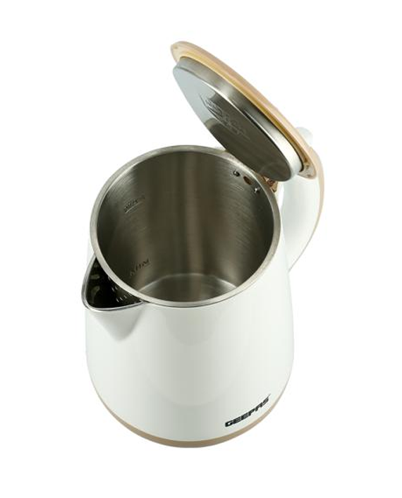 Geepas GK6142 1.7 Litre Double Layer Kettle White