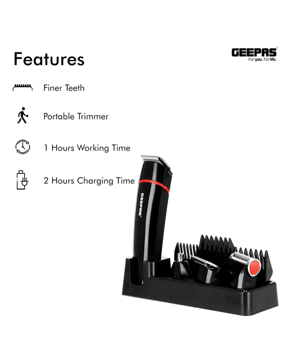 Geepas GTR8128N Rechargeable Trimmer for Men