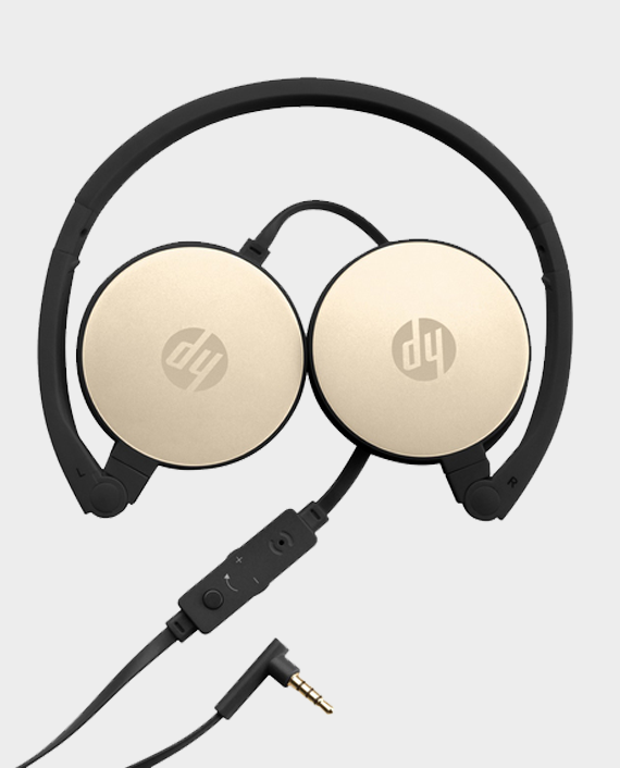 HP Stereo Headset H2800-2AP94AA Black with Silk Gold in Qatar