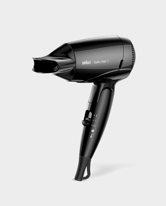 Braun Satin Hair 1 Style & Go Travel Dryer HD130 with Professional Style Nozzle in Qatar
