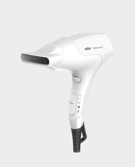 Braun HD180 Satin Hair 1 PowerPerfection Dryer with Styling Nozzle in Qatar