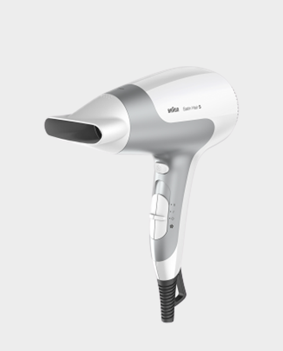 Braun HD580 Satin Hair 5 PowerPerfection Dryer with Ionic Function and Styling Nozzle in Qatar