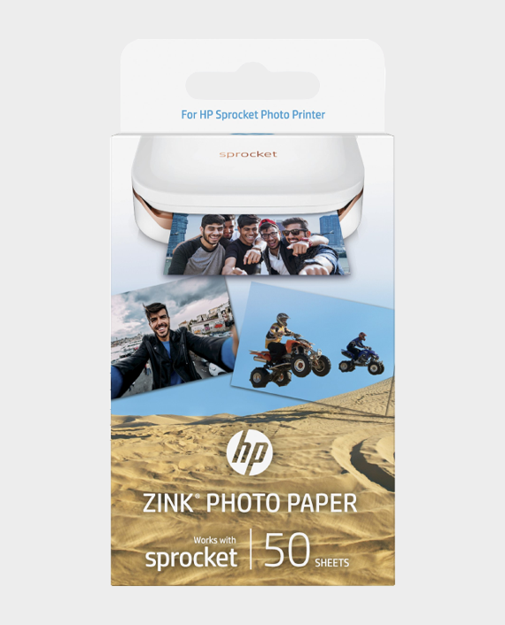 HP 1RF43A Zink Sticky Backed Paper 50 Sheets in Qatar