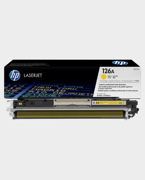 HP CE312A 126A Original LaserJet Toner Cartridge Yellow in Qatar