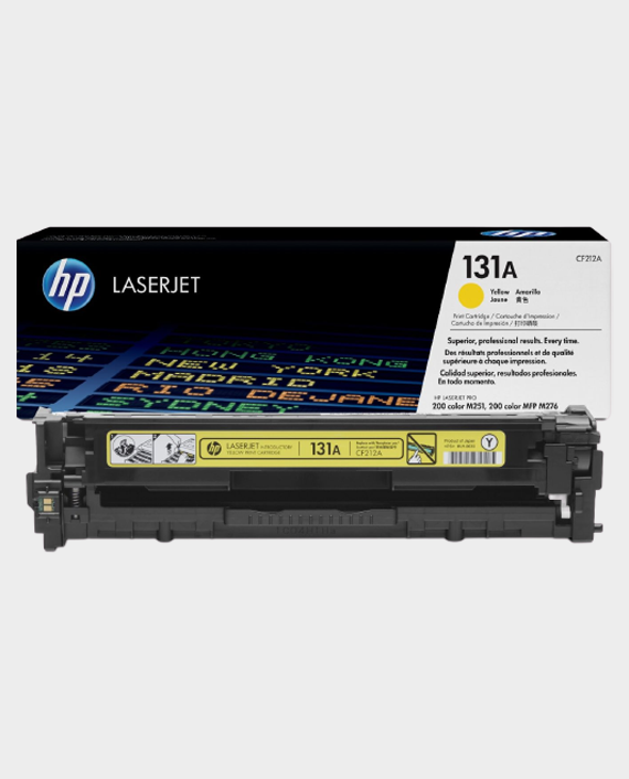 HP CF212A 131A Original LaserJet Toner Cartridge Yellow in Qatar