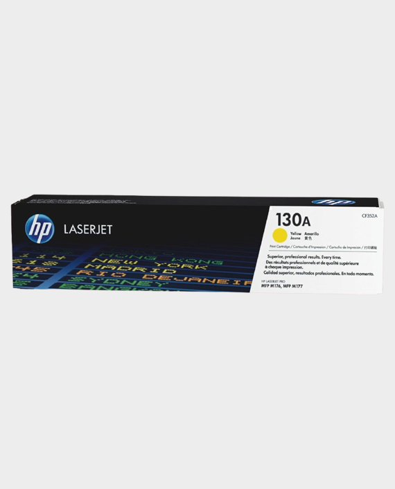 HP CF352A 130A Original LaserJet Toner Cartridge Yellow in Qatar