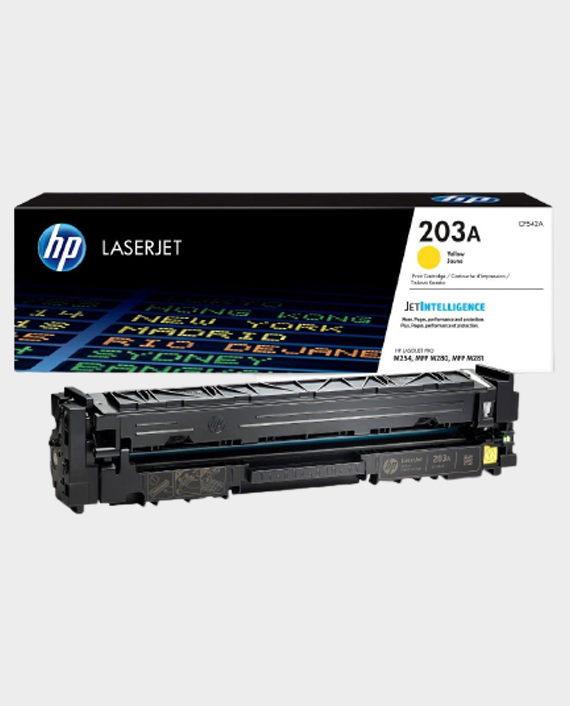 HP CF542A 203A Original LaserJet Toner Cartridge Yellow in Qatar