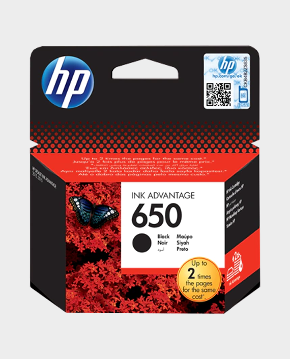 HP CZ101AE 650 Original Ink Advantage Cartridge Black in Qatar