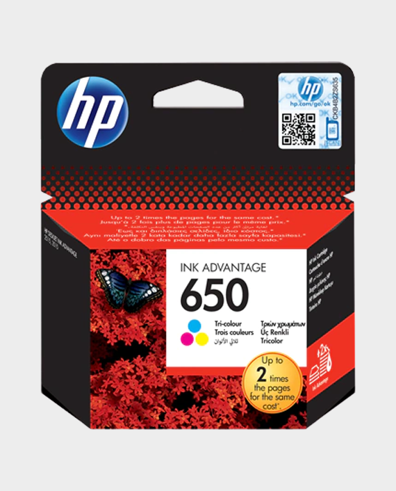 HP CZ102AE 650 Original Ink Advantage Cartridge Tri-Color in Qatar