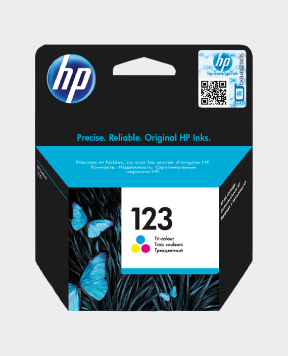 HP F6V16AE 123 Original Ink Cartridge Tri-color in Qatar