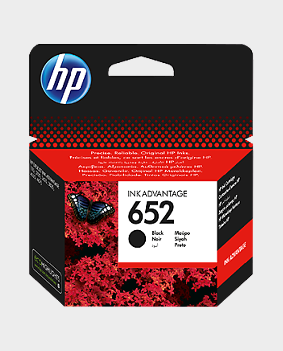 HP F6V25AE 652 Original Ink Advantage Cartridge Black in Qatar