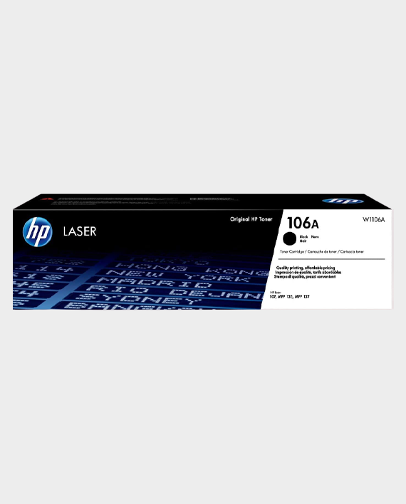 HP W1106A 106A Original Laser Toner Cartridge Black in Qatar