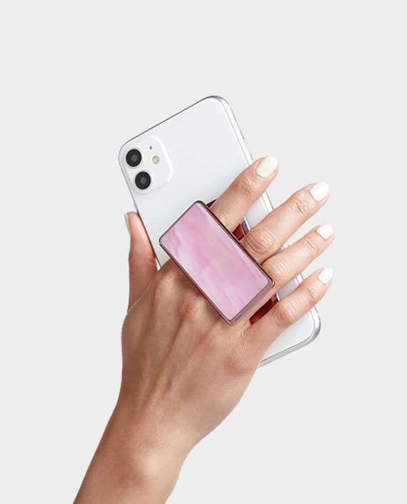 Handl Stick Luxe Marble Phone Grip - Pink