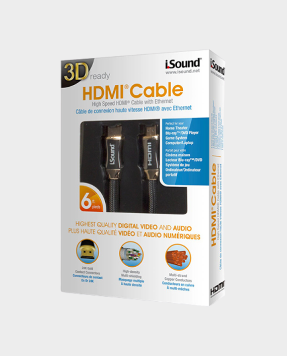 I Sound 5214 6ft High-Speed HDMI Cable Gold