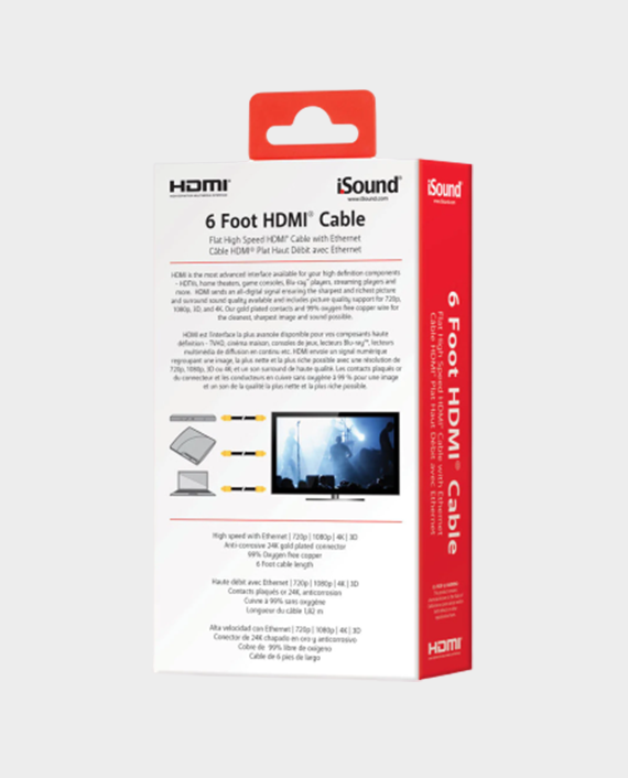 I Sound 6815 6ft High-Speed HDMI Cable