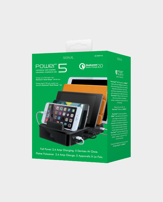 I Sound SIG-8060 Power 5 USB Charging Dock with Quick Charge