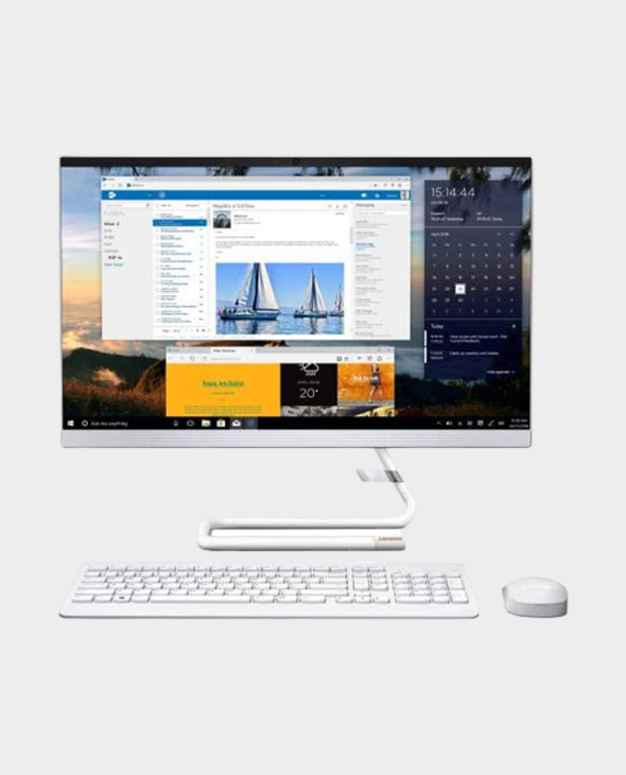 Lenovo Idea Center AIO340-24ICK / F0ER00CBAX / i5-9400T / 8GB RAM / 1TB HDD / Radeon 530 2GB / 23.8 Inch FHD / Win 10 Home - White in Qatar