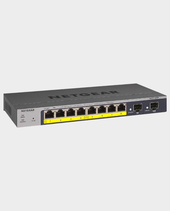 Netgear GS110TP-300EUS 8-Port Gigabit PoE + Ethernet Smart Managed Pro Switch with 2 SFP Ports in Qatar